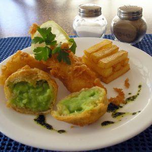 Mushy Pea Fritters